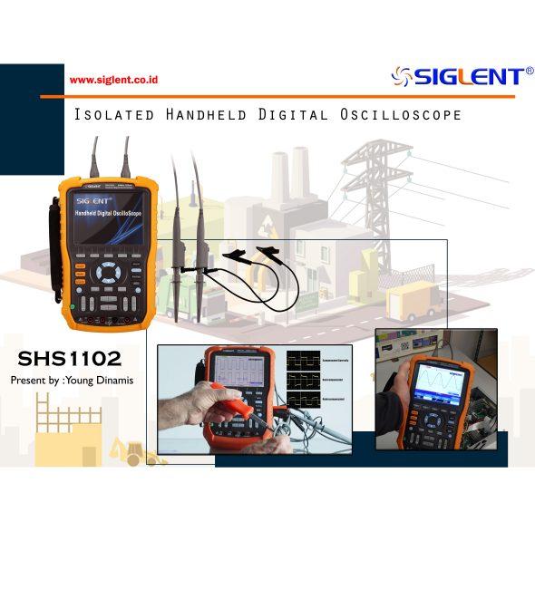 Isolated Handheld Digital Oscilloscopes SHS1000 Series